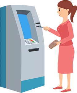 USE ATM By Woman